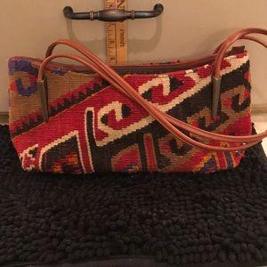 Wool & Leather handbag